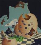 """Realtà onirica n°1″, 90×80 cm., tecnica mista"