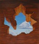 """""""Grinze del tempo n° 3"""", 90x100 cm., olio"""